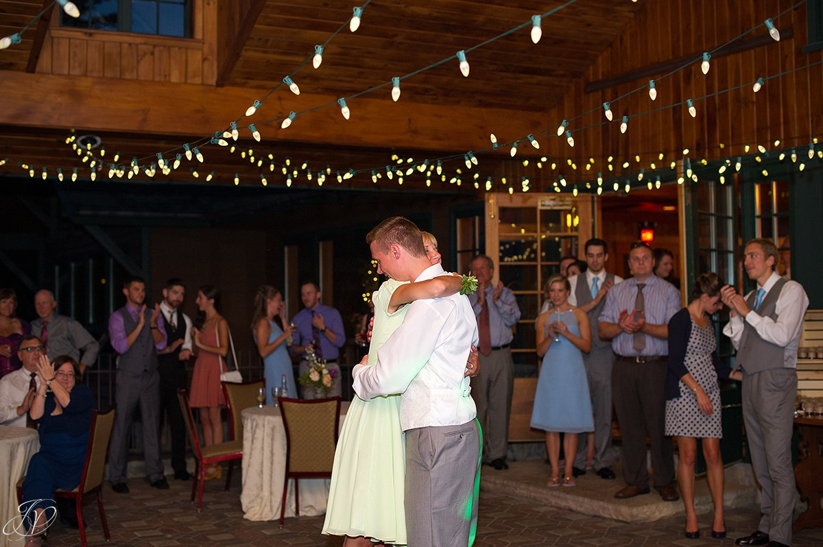 mother son dance at reception lake placid golf club