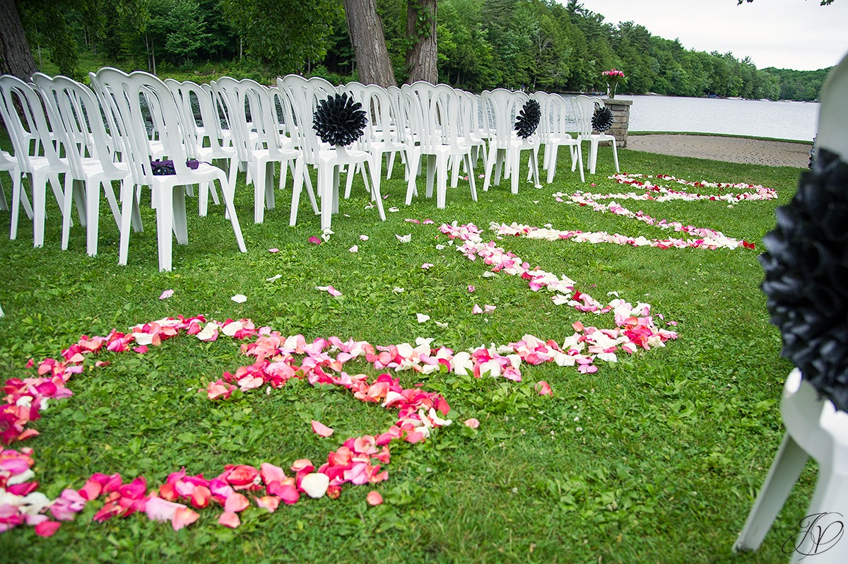 crooked lake outdoor ceremony setup