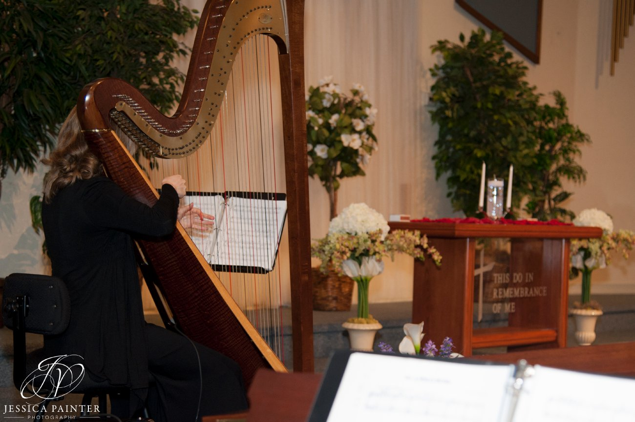 albany wedding, schenectady wedding, wedding detail photo, wedding harpist playing