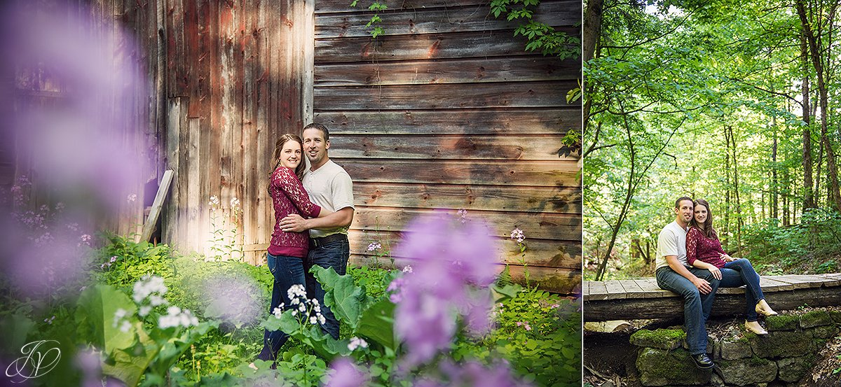 cute photo of a couple in front of a barn