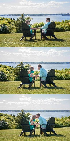 Alissa & Dan's engagement portrait taken in Newport RI at Oceancliff . RI wedding photography