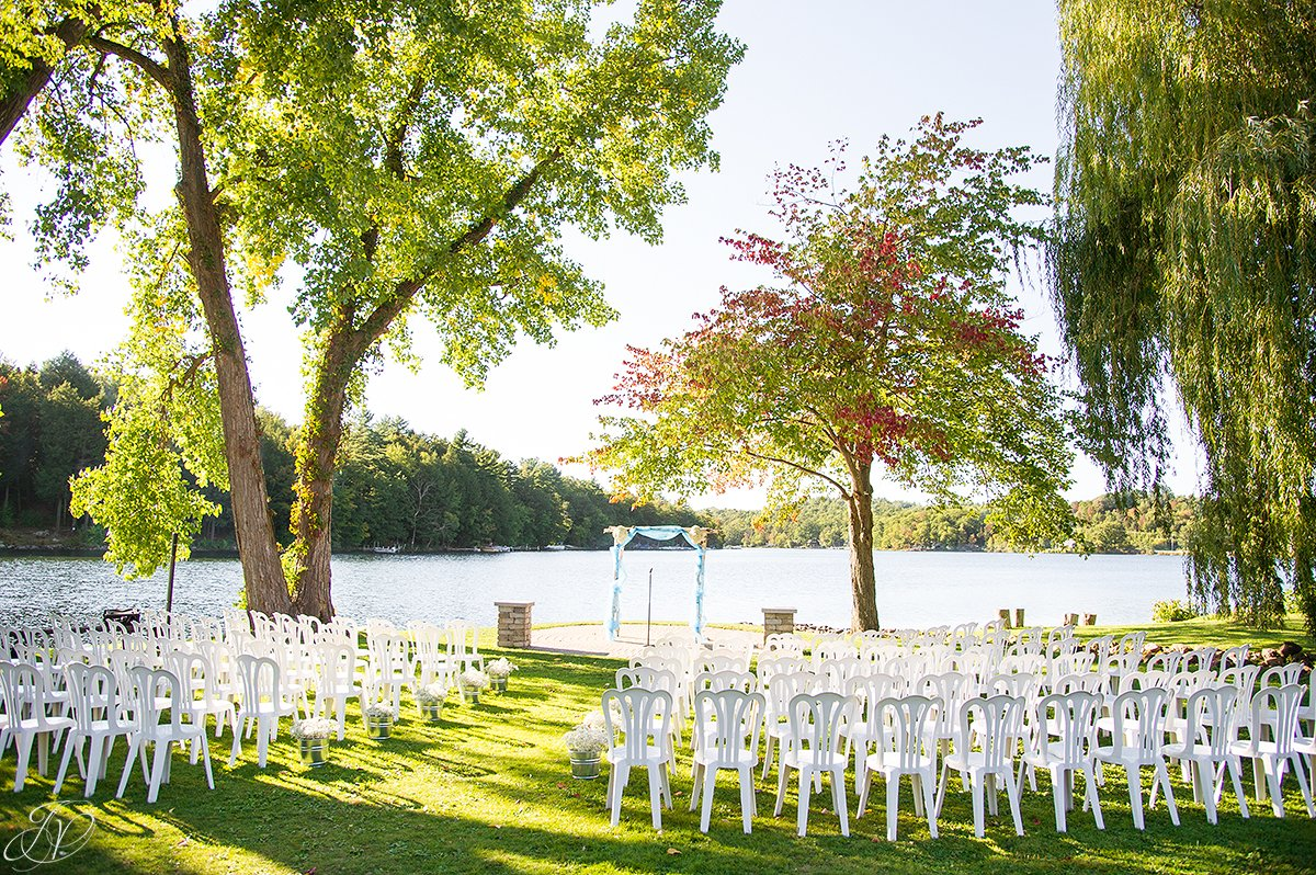 details of ceremony on lake
