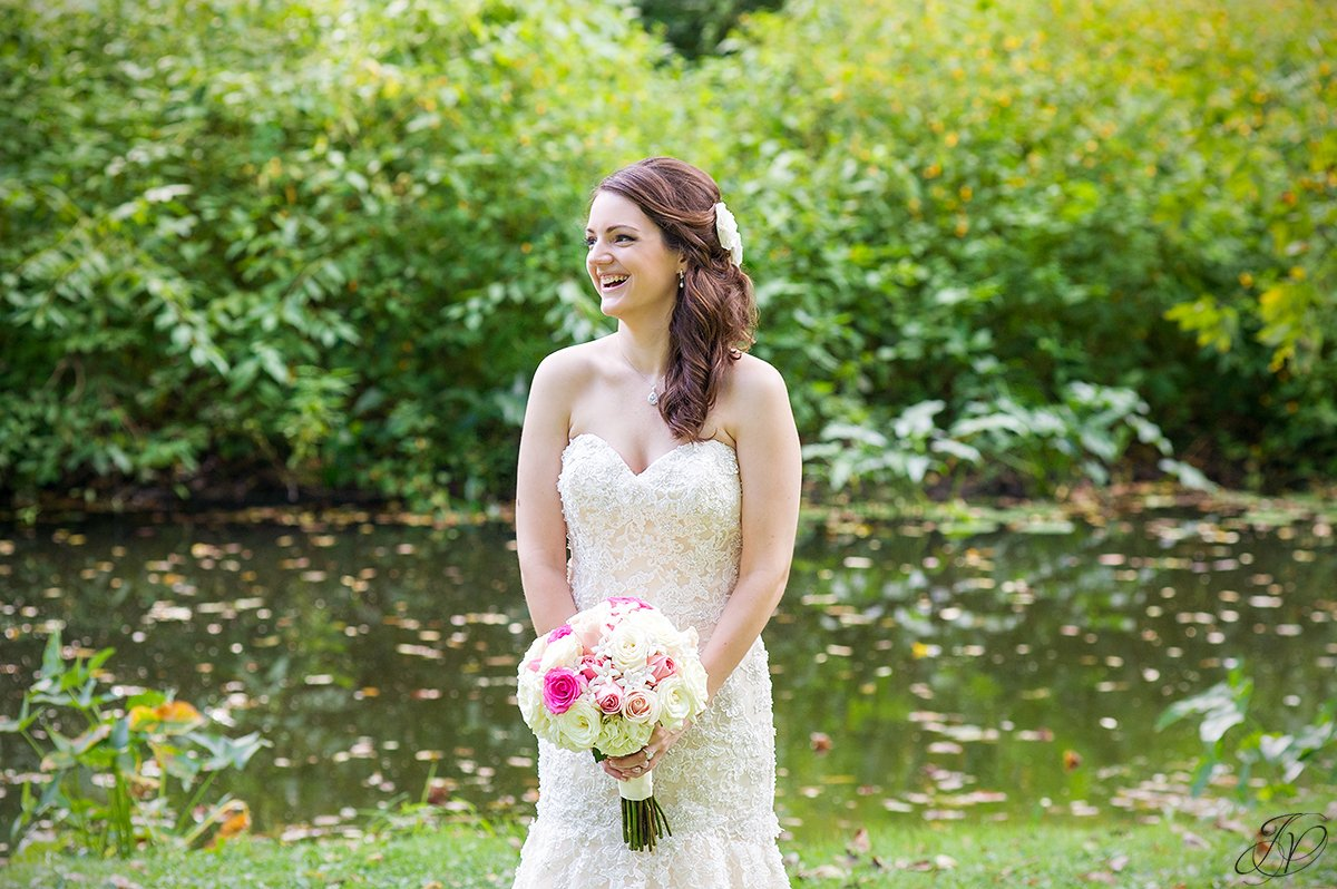 photo of a gorgeous bride laughing