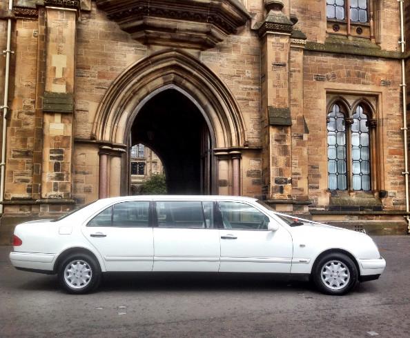 Fabulous white Mercedes Limousine