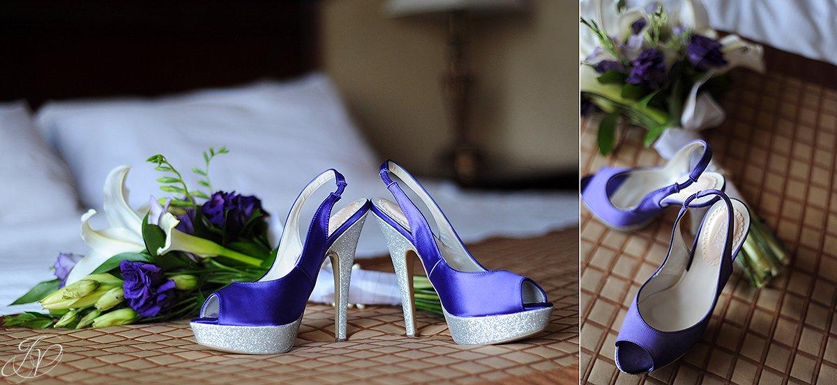 crazy unique purple wedding shoes