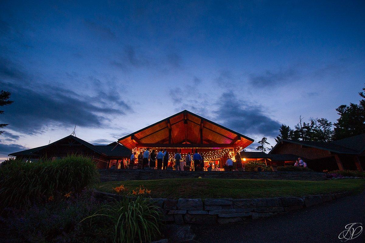 night photo lake placid golf club