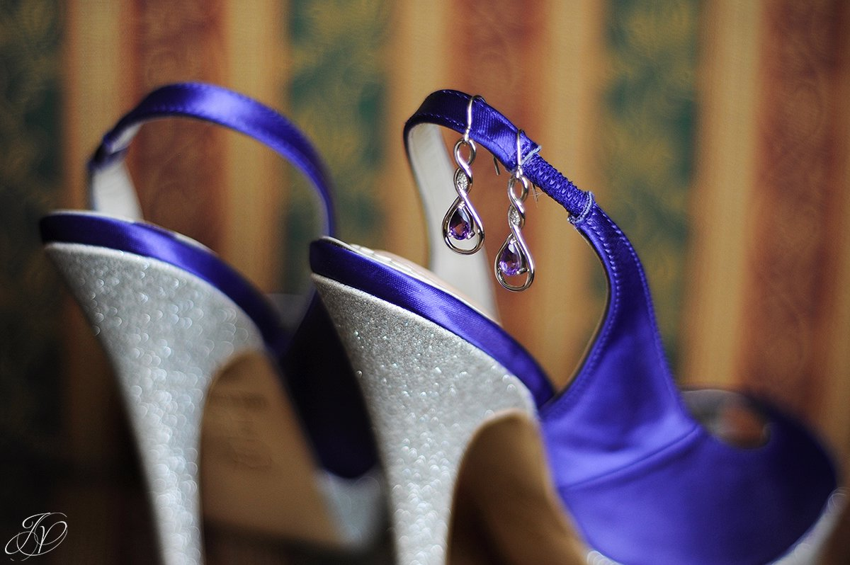 unique purple wedding shoes