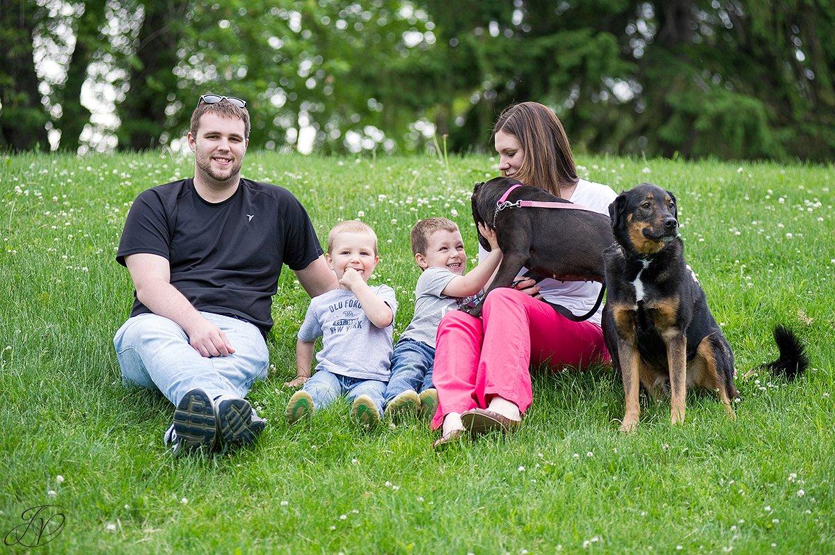 animal rescue family portrait