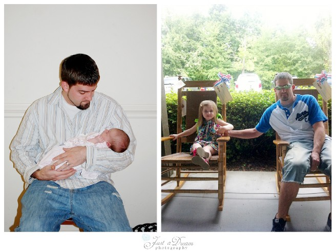 father's day then and now photo