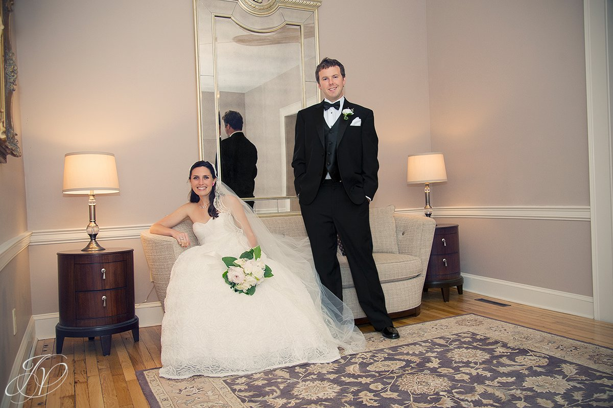 bride and groom in front of mirror photo, beautiful bride and handsom groom photo, albany ny wedding photographer
