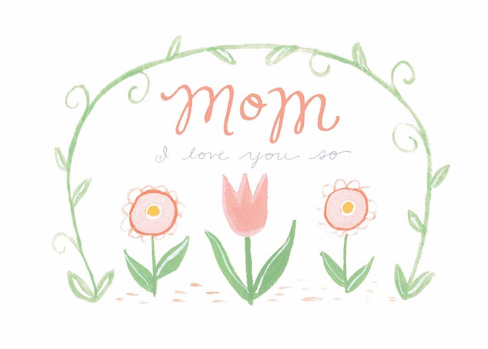 Rhianna Wurman Of ElloLovely In Asheville, Mom, I Love You Card, $4.50