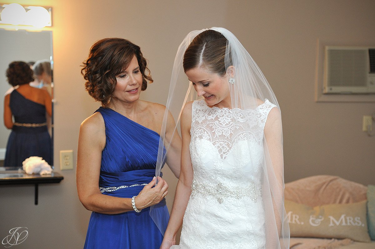 special moment between bride and mother