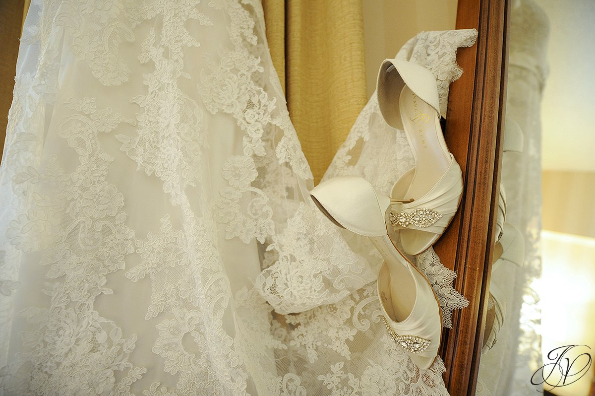 wedding shoe detail photo, wedding dress detail photo, Wedding at The Pruyn House, Albany Wedding Photographer