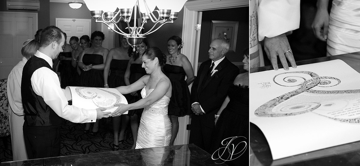 ketubah signing, The Glen Sanders Mansion, Albany Wedding Photographer