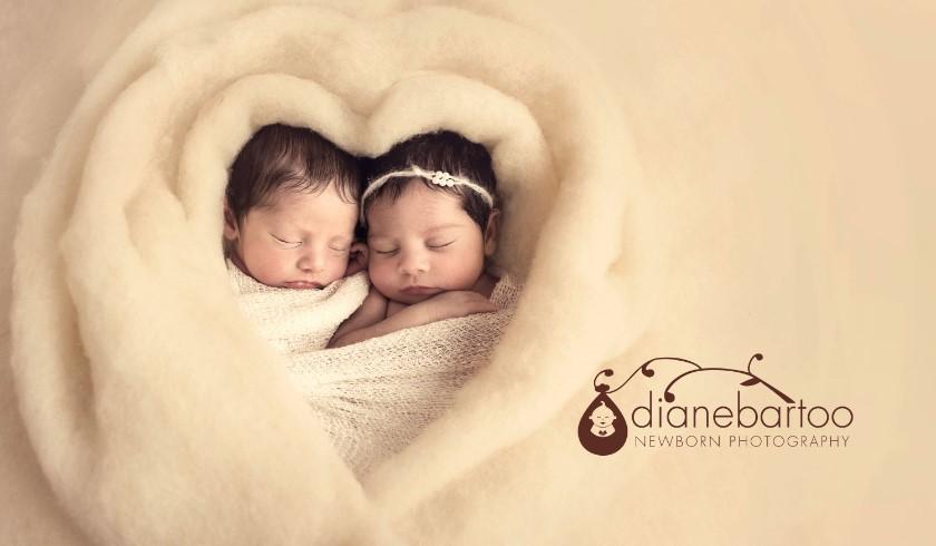 Newborn twin pictures riverside california