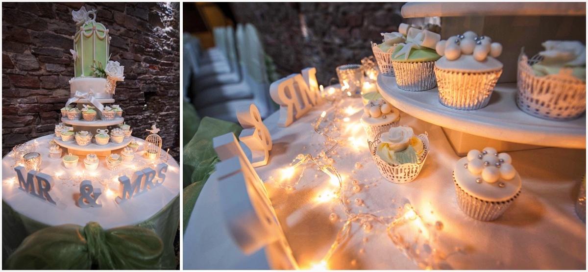 low light shot of wedding cake