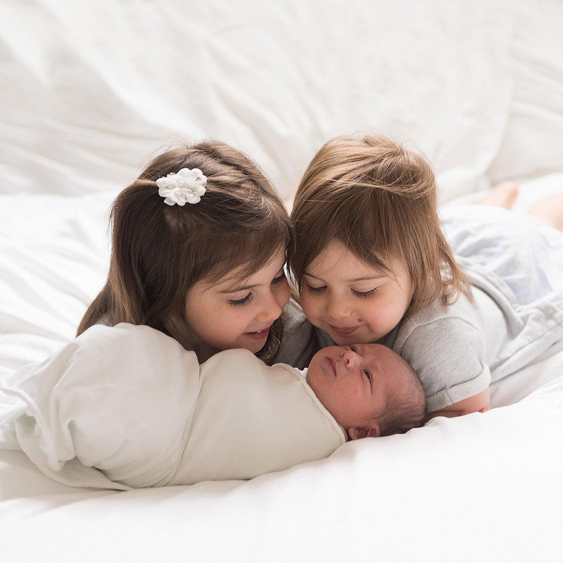 Newborn photo session with siblings newborn photography boston
