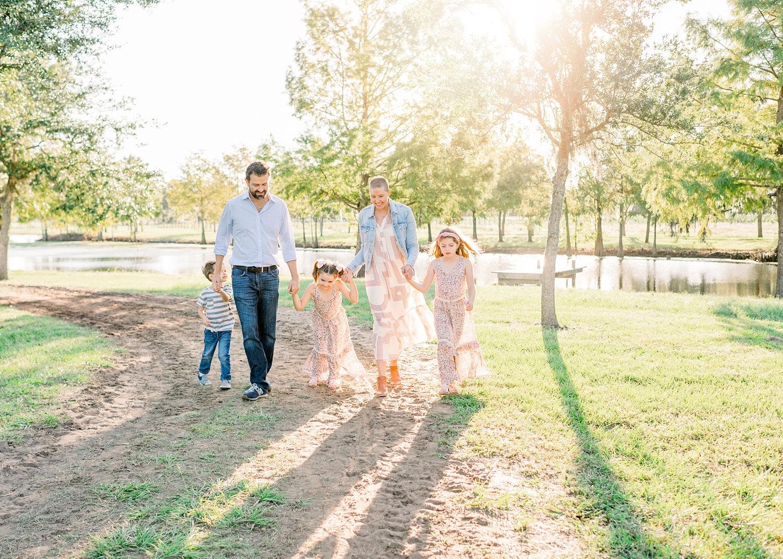 stylish family walking, spring family photo session, Ryaphotos