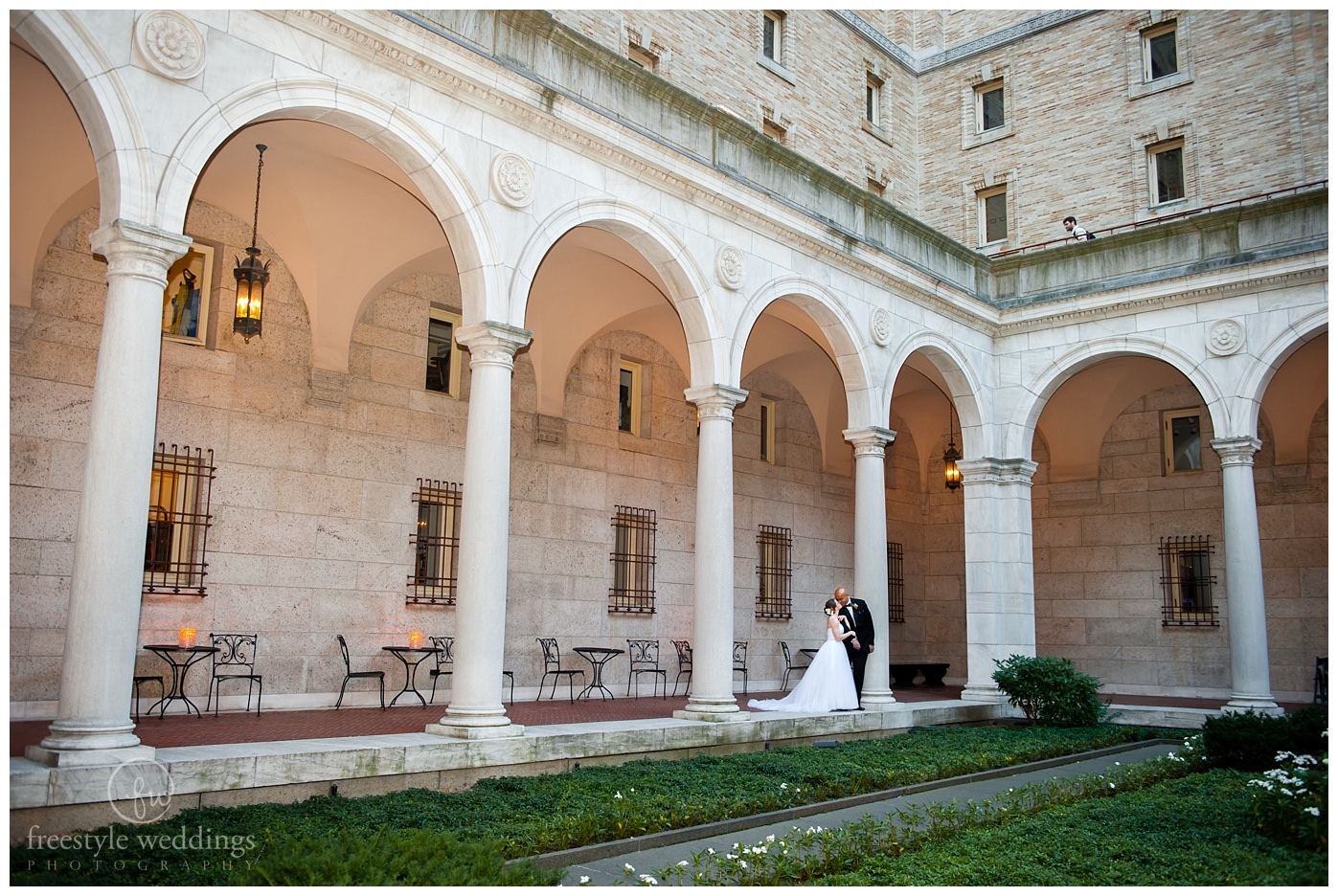 Boston Public Library Evening Wedding in September photographed by Freestyle Weddings