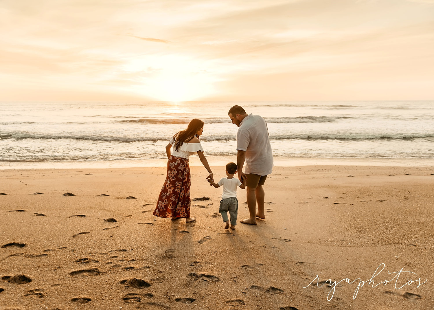 family beach portrait, family of 3, St. Augustine vacation portraits, Rya Duncklee